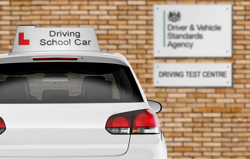 Article explaining if you can use the driving instructor's car for the test